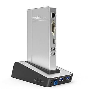 mutifuncional: WAVLINK USB 3.0 Universal Docking Station Mutifuncional con Base de conexión par...