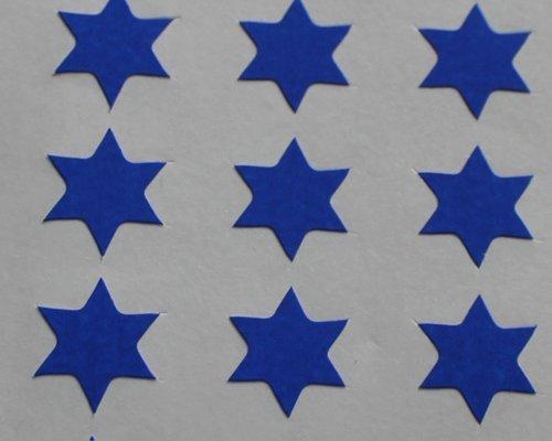 150 Etiquetas, 10mm Forma De Estrella, Azul, Pegatinas Autoadhesivas, Minilabel Formas