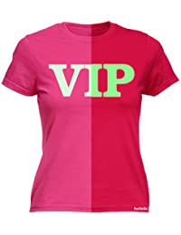 LADIES GLOW IN THE DARK VIP - NEW PREMIUM FITTED T SHIRT (VARIOUS COLOURS) - S M L XL 2XL - by 123t