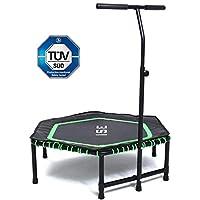 ISE Trampoline de Fitness/Trampoline intérieur et de Jardin/Gymnastique 122 cm - Parfait pour l'intérieur/Poignée réglable