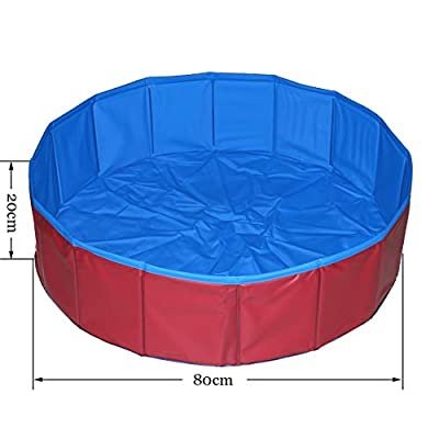 T Tocas Foldable Pet Dogs Cats Swimming Pool 80 * 20cm from T Tocas