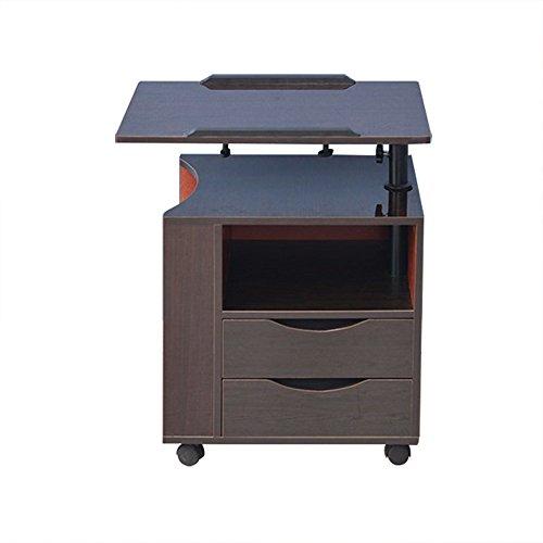 Yang Hong Shop Computer Desk Abnehmbare Nachttisch Aufzug Nachttisch Storage Locker Zähler Schrank A+ (Farbe : Schwarze Walnussfarbe) -