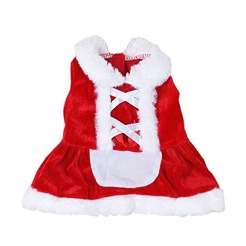 Weihnachten Hund Kleidung Santa Doggy Kostüme New Design Baumwolle Haustier Kleid Kleidung Haustier Hund Winter Mantel (S)