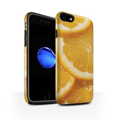 STUFF4 Glanz Harten Stoßfest Hülle / Case für Apple iPhone 8 / Wassermelone Muster / Saftige Frucht Kollektion Zitrone