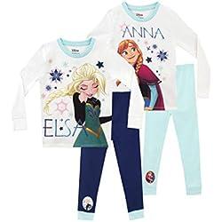 Disney Frozen Pijamas para Niñas 2 Paquetes Ajuste Ceñido El Reino del Hielo 2-3 Años