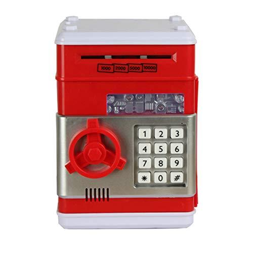 Fannty Geschenkspielzeug Kindercode Elektronische Safe-Banken Mini-Geldautomat Elektronisches Sparschwein Kombinationsschloss für Kinder mit Musikbox (Elektronisches Kombinationsschloss)
