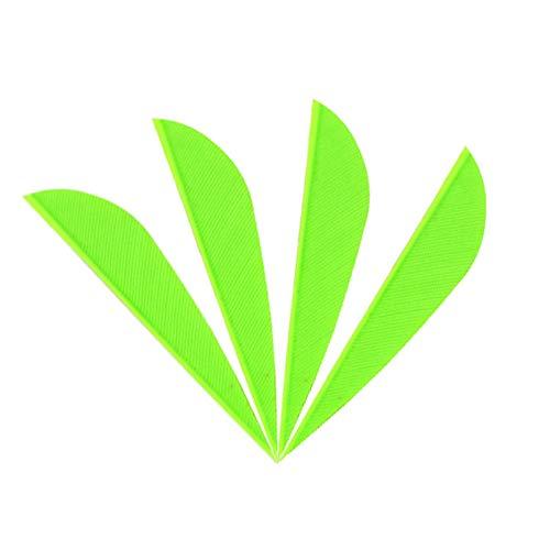 SHARROW 50pcs Bogenfedern Pfeilfedern Naturfedern 2 Zoll Rechter Flügel Federn für Pfeile (Grün 2)