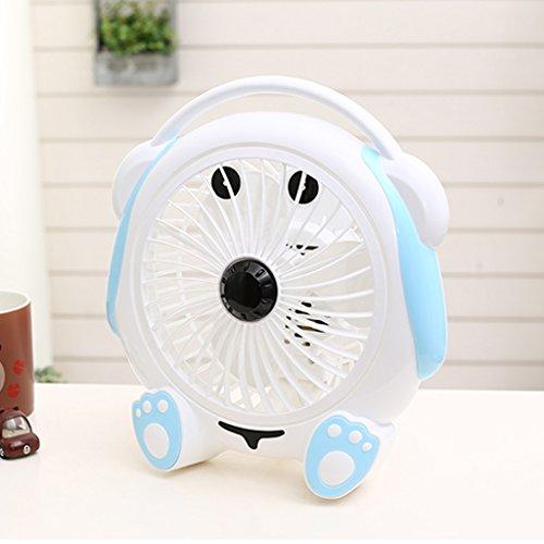 MMM- 8 Zoll-Welpen-Form-Ventilator- / Karikatur-Schreibtisch-Ventilator- / Minifan / Studenten-Schlafsaal-Ventilator- / Büro-Tischplattenventilator- / Bett-Desktop-stummer Ventilator- / stiller kleiner Ventilator der Kinder- / beweglicher heller Ventilator ( Farbe : Weiß )