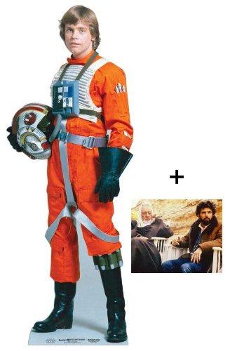 Luke Skywalker Star Wars Lifesize Cardboard Cutout / Standee (Mark Hamill) - Includes 8X10 (25X20Cm) Starfoto - #354