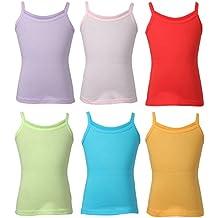 Bodycare Plain Multicolor Girls Slip Pack of 6