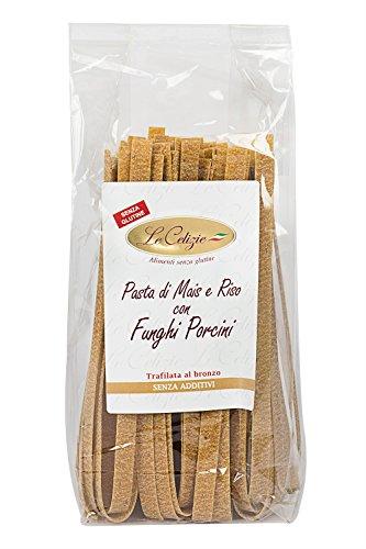 Le Celizie Pappardelle di Mais e Riso con Funghi Porcini, Pacco da 250 gr, Senza glutine