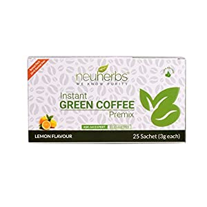 Instant Green Coffee Premix With Lemon Flavour (30 Sachet), Each 3 Gm