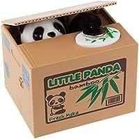 Kentop - Hucha panda, hucha electrónica automática para monedas Penny Piggy, caja regalo para niños