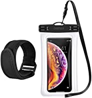 CHOETECH Floating Waterproof Case, Waterproof Pouch Dry Bag with Armband & Neck Strap Compatible with iPho