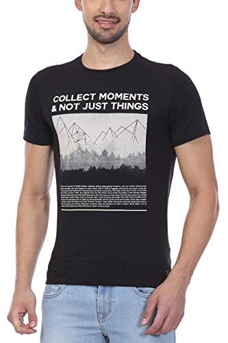 Peter England Black T Shirt