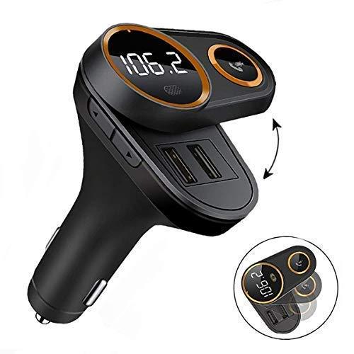 Bluetooth FM Transmitter, Vorstek FM Transmitter Bluetooth Wireless Radio Adapter mit SD Karte USB KFZ Ladegerät Freisprecheinrichtung für Auto Autoradio Handy MP3 iPhone Samsung Android Smartphone -
