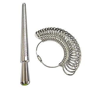 Professionelle UK Ring Sizer A-Z Finger Sizing Messstock Metall Ring Dorn Finger Gauge Schmuck Kit Engagement Werkzeug