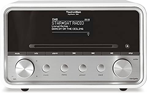 Technisat Digit Radio 580 Stereo Digital Radio with CD Player/DAB +/FM/Internet Radio, Multi Room Streaming, Bluetooth, Motion via an App, USB, 2 x 10 W)