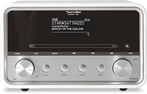 TechniSat DIGITRADIO 580 - Stereo Digitalradio mit CD-Player Internetradio mit Multiroom-Streaming, Bluetooth, Steuerung per App, 2 x 10 Watt) weiß