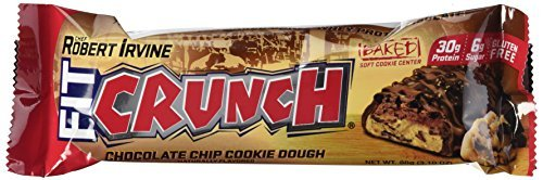 Fit Crunch Bars Cookie Dough, 12 Count by Fit Crunch Bars