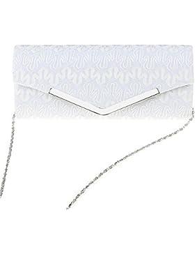 Clasichic Damen Spitze Abendtasche elegant Handtashce Party Hochzeit Clutch Bag Kettentasche Umhängetasche