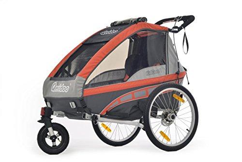 Preisvergleich Produktbild Kinderanhänger Qeridoo KidGoo-1 inkl. Scheibenbremse red