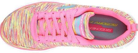 Skechers Flex Appeal Whirlwind, Chaussures de Running Compétition femme Rose