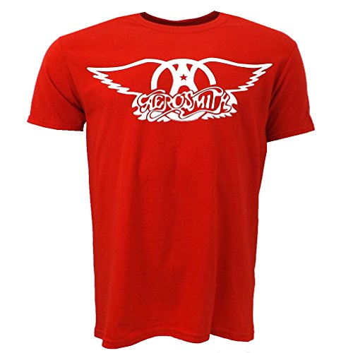 Aerosmith Logo Red T-shirt Official Licensed Music
