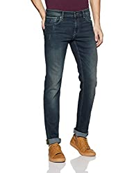Indian Terrain Mens Slim Fit Jeans (ITMDN00024_Md Wash_38W x 34L)