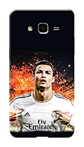 Samsung Galaxy On7 Black Hard Printed Case Cover by HACHI - Ronaldo Football Fans design