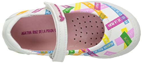 Agatha Ruiz de la Prada Plan, Babies fille Blanc (A Blanco Y Estampado Post It Mat)