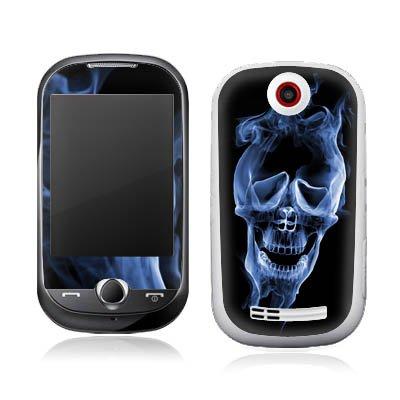 DeinDesign Samsung Corby S3650 Case Skin Sticker aus Vinyl-Folie Aufkleber Halloween Skull Rauch