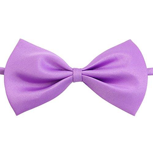the-cheers-children-girls-boys-toddler-bowtie-pre-tied-wedding-bow-tie-plain-necktie-light-purple