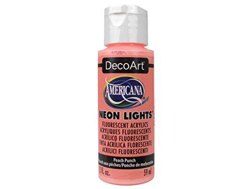 Deco Art Americana Neon Light S 2Oz Pfirsich, Acryl, mehrfarbig, 6-teilig