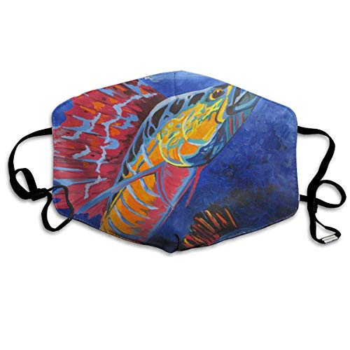 Masken, Masken für Erwachsene, Face Mask Reusable, Warm Windproof Mouth Mask, Cool Sailfish Painting Reusable Anti Dust Face Mouth Cover Mask Protective Breath Healthy Safety