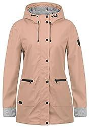 DESIRES Becky Damen Regenjacke Regenmantel Übergangsjacke Mantel mit Kapuze, Größe:L, Farbe:Mahog. Rose (4203)