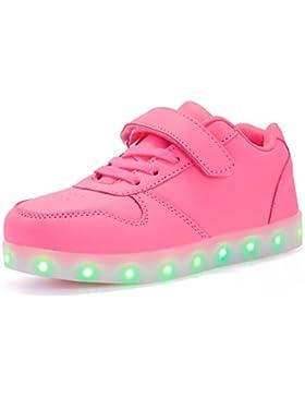 Maniamixx Bambini Illuminano Scarpe Carica Scarpe Ginnastica con LED Luminosi Sneakers Regalo per Ragazzi Ragazze