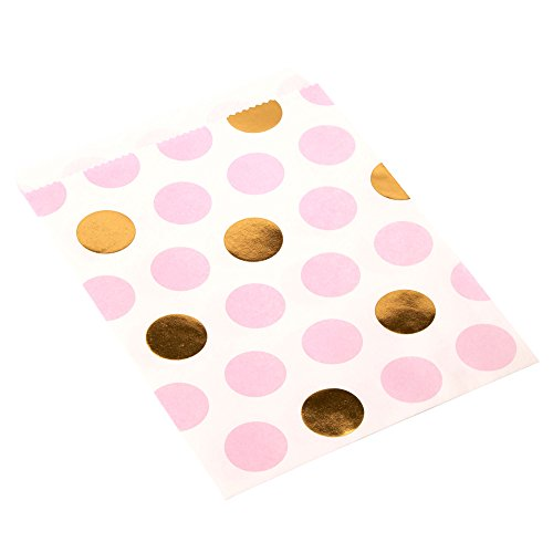 Neviti Pattern Works Süßigkeitentüten, mit Punktemuster, pink, 25 Stück (Bag Pattern Paper)