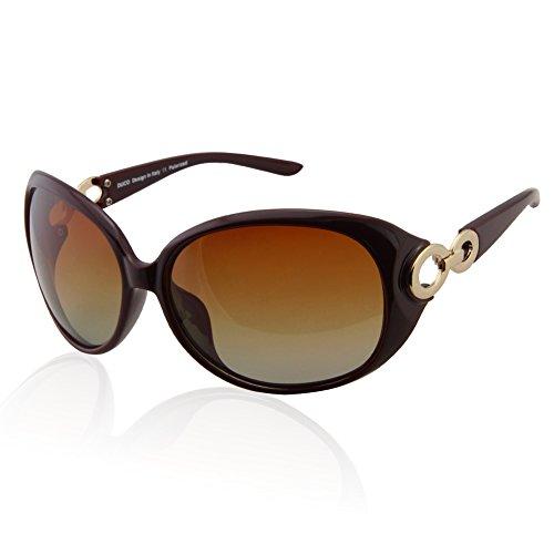 Femminile duco classic star occhiali da sole polarizzati 100% protezione uv 1220 (rosso scuro)