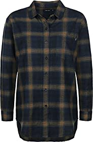 OBEY Women's Montague Boyfriend Fit Oversized Plaid Flannel S