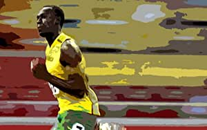 Usain Bolt oil painting on canvas 40x28 inches