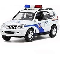 Markc Policía sonido de ajuste de coche y encenderse tire de la bebé coche de juguete modelo de coche de aleación de coche coche de juguete infantil de coche tire hacia atrás portátil puede abrir la p