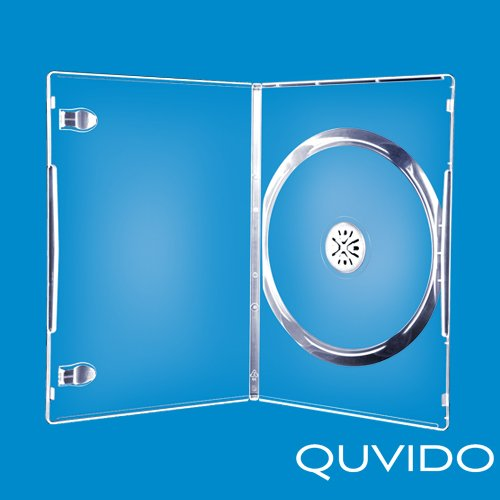 60 QUVIDO Single Slim CD/DVD Tasche Transparent 7 mm
