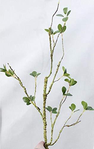 QQFTCM 6 Niederlassungen Künstliche PVC Schäumen Tree Branch Mit Jasmin Grünen Blättern Für Zu Hause Hochzeit DIY Dekoration Gefälschte Blume Faux Laub Pflanze Nicht Verlassen -