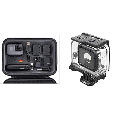 GoPro HERO5 4K Actionkamera Bundle (Inklusive Casey + Shorty Stativ + 16 GB Speicherkarte) &  Super Suit (Superschutz + Tauchgehäuse für HERO6 Black/HERO5 Black/HERO 2018) Offizielles GoPro-Zubehör