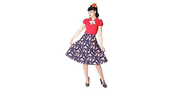 c4eaf7922aa SugarShock Montra 50s Pin up Koi Fisch Retro Swing Peplum Skirt Rockabilly  Petticoat Teller Rock