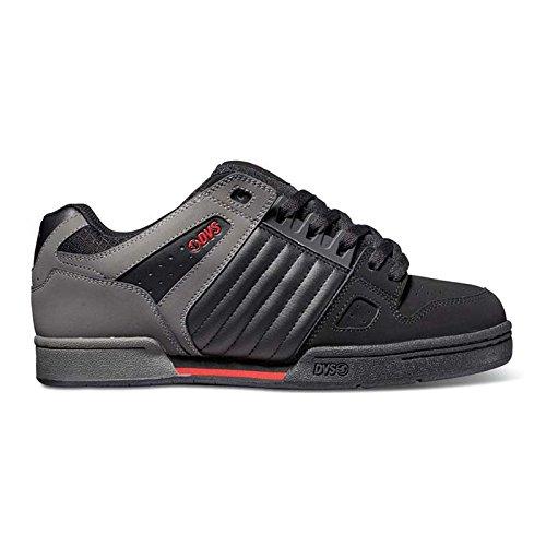 DVS, Sneaker uomo nero Black/Grey/Red, nero (Black/Grey/Red), 44.5 / 10.5