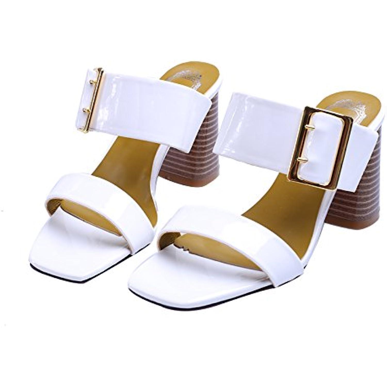 GTVERNH Summer Dur Cool Laque Orteils Talons Talons Talons Hauts 7 Cm Les Chaussures Les  s. - B07D6547V3 - a9cc51