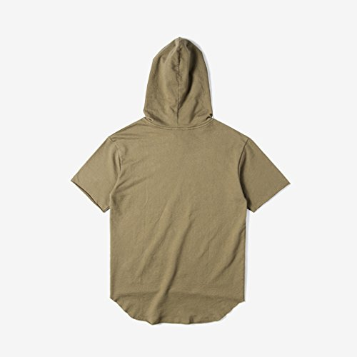 Honghu Herren Hoodie T-shirt Grün