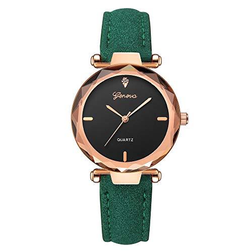 WZFCSAE Reloj Mujer Mode Frauen Uhren Leder Band Genf Analog Quarz Diamant Armbanduhr Uhren Bajan kol saati orologio Donn